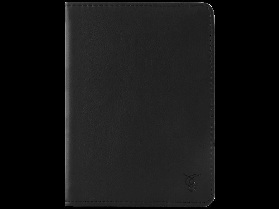 Чехол-книжка VIVACASE универсальный 6'', кожзам / иск. замша, черный