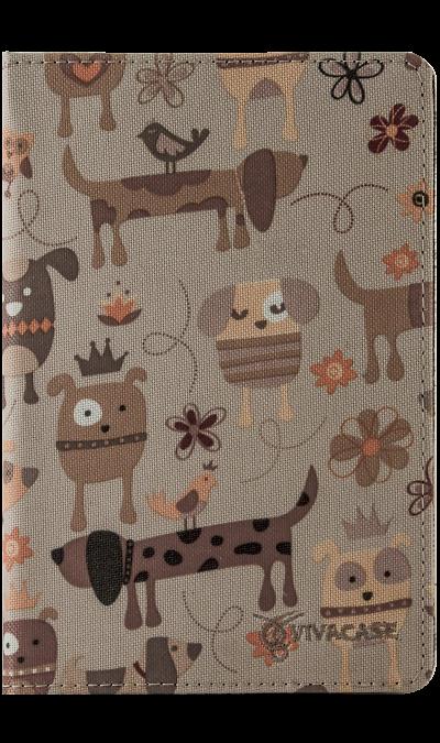 все цены на VIVACASE Чехол-книжка VIVACASE универсальный 7'' Doggy, ткань, бежевый онлайн