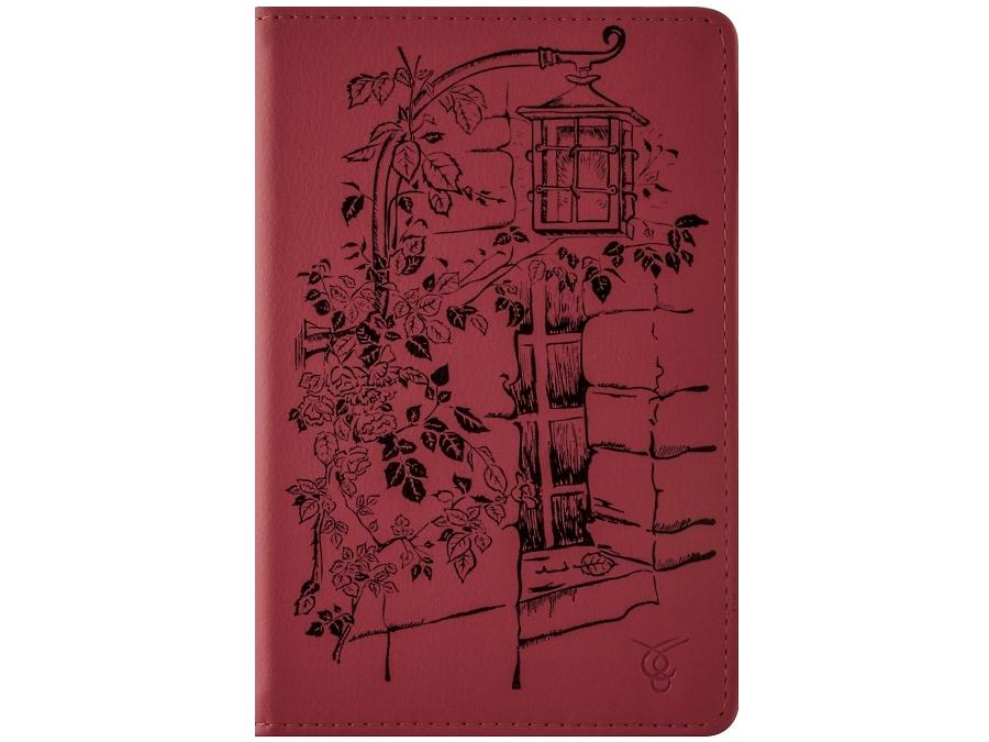 Чехол-книжка VIVACASE универсальный 7'' Streetlight, кожзам / иск. замша, красный