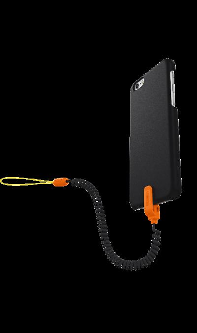 Kenu Чехол с фиксатором Kenu для Apple iPhone 6, пластик, черный\оранжевый kenu чехол с фиксатором kenu для apple iphone 6 plus пластик черный зеленый