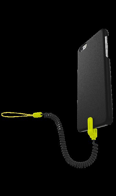 Чехол с фиксатором Kenu для Apple iPhone 6 Plus, пластик, черный\зеленыйЧехлы и сумочки<br>Чехол с фиксатором для защиты от падений поможет не только защитить ваш Apple iPhone 6 Plus от повреждений, но и сделает обращение с ним более удобным, а сам аппарат будет выглядеть еще более оригинальным.<br><br>Colour: Черный