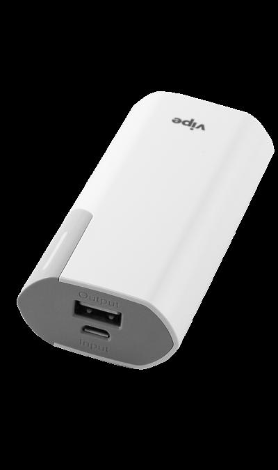 Аккумулятор Vipe Block VPPBB40GREY, Li-Ion, 4000 мАч, белый (портативный)Аккумуляторы внешние<br>Резервный аккумулятор Vipe Block - устройство, предназначенное для зарядки портативных устройств без помощи электрической сети. Особенно актуален для путешественников и туристов в местах, где невозможен или ограничен доступ к электроэнергии. Резервный аккумулятор Vipe Block подходит для портативных устройств, таких как смартфоны, планшеты, мобильные телефоны и МР3-плееры.<br>Для зарядки устройств Apple необходимо использовать кабель идущий в комплекте с телефоном.<br><br>Colour: Белый