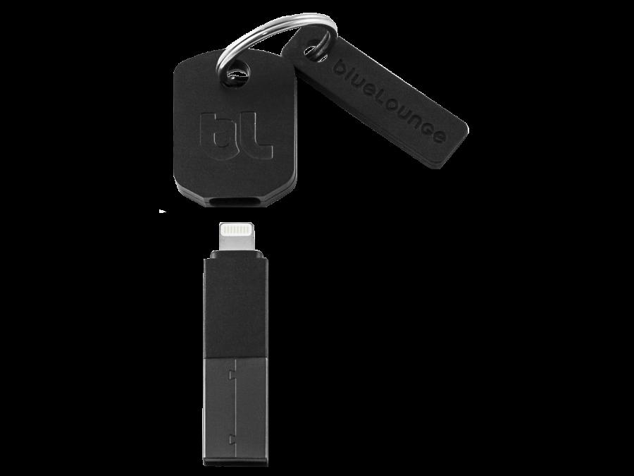 Адаптер Bluelounge Kii-BL-L-EU USB - Lightning (черный)