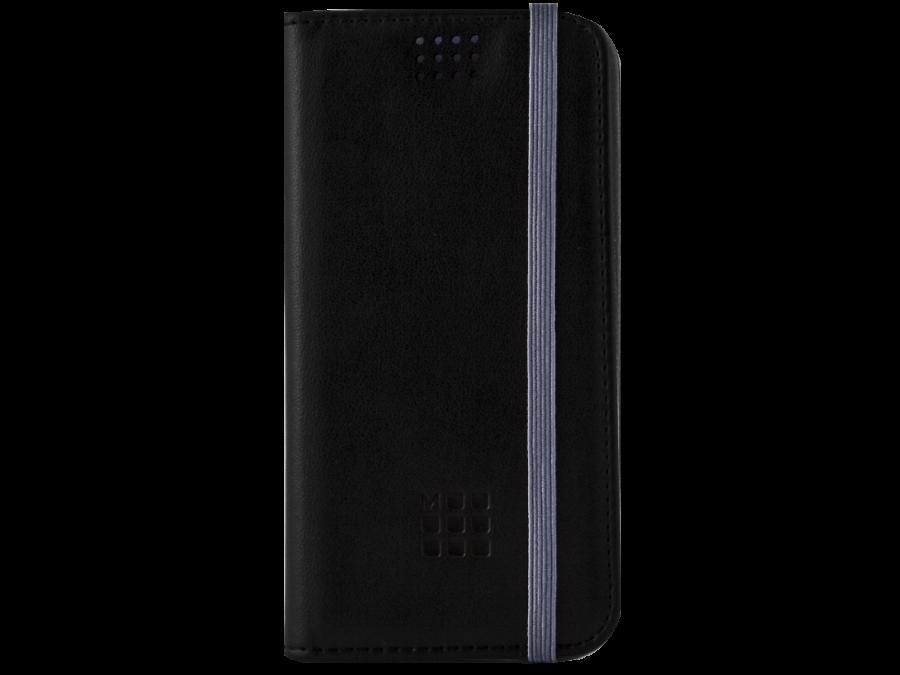 Чехол-книжка Moleskine универсальный 4.0-4.5'', кожа, черныйсиреневый