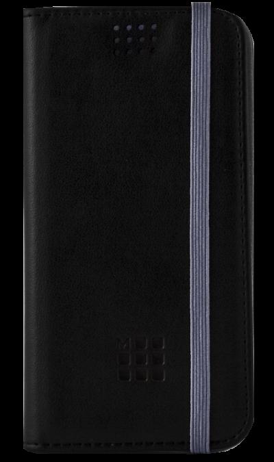 Чехол-книжка Moleskine универсальный 4.0-4.5, кожа, черный\сиреневыйЧехлы и сумочки<br>Чехол Moleskine поможет не только защитить ваш смартфон от повреждений, но и сделает обращение с ним более удобным, а сам аппарат будет выглядеть еще более элегантным. Способ крепления - поворотный механизм на клейкой основе.<br><br>Colour: Черный