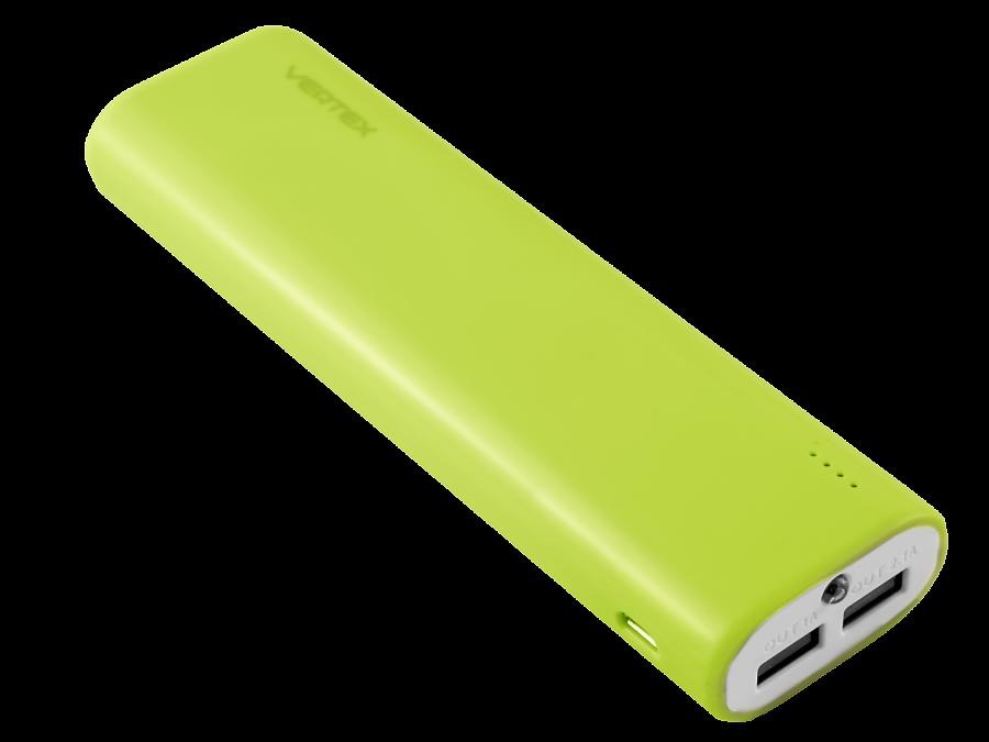 Аккумулятор Vertex XtraLife 2USB, Li-Ion, 8000 мАч, зеленый (портативный)