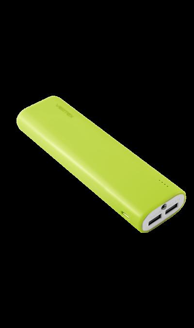 Аккумулятор Vertex XtraLife 2USB, Li-Ion, 8000 мАч, зеленый (портативный)Аккумуляторы внешние<br>Резервный аккумулятор Vertex XtraLife - устройство, предназначенное для зарядки портативных устройств без помощи электрической сети. Особенно актуален для путешественников и туристов в местах, где невозможен или ограничен доступ к электроэнергии. Резервный аккумулятор подходит для портативных устройств, таких как смартфоны, планшеты, мобильные телефоны и МР3-плееры.<br>Для зарядки устройств Apple необходимо использовать кабель идущий в комплекте с телефоном.<br><br>Colour: Зеленый