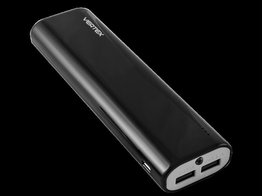Аккумулятор Vertex XtraLife 2USB, Li-Ion, 8000 мАч, черный (портативный)