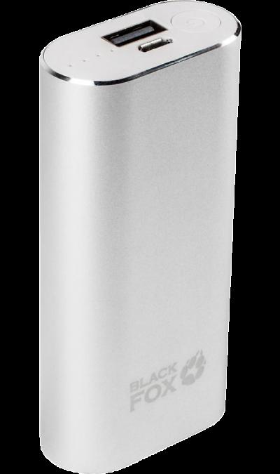 Аккумулятор Black Fox BMP 052, Li-Ion, 5000 мАч, серебристый (портативный)Аккумуляторы внешние<br>Резервный аккумулятор Black Fox - устройство, предназначенное для зарядки портативных устройств без помощи электрической сети. Особенно актуален для путешественников и туристов в местах, где невозможен или ограничен доступ к электроэнергии. Резервный аккумулятор подходит для портативных устройств, таких как смартфоны, планшеты, мобильные телефоны и МР3-плееры.<br>Для зарядки устройств Apple, с разъемом Lightning необходимо использовать адаптер, идущий в комплекте с внешним АКБ.<br>