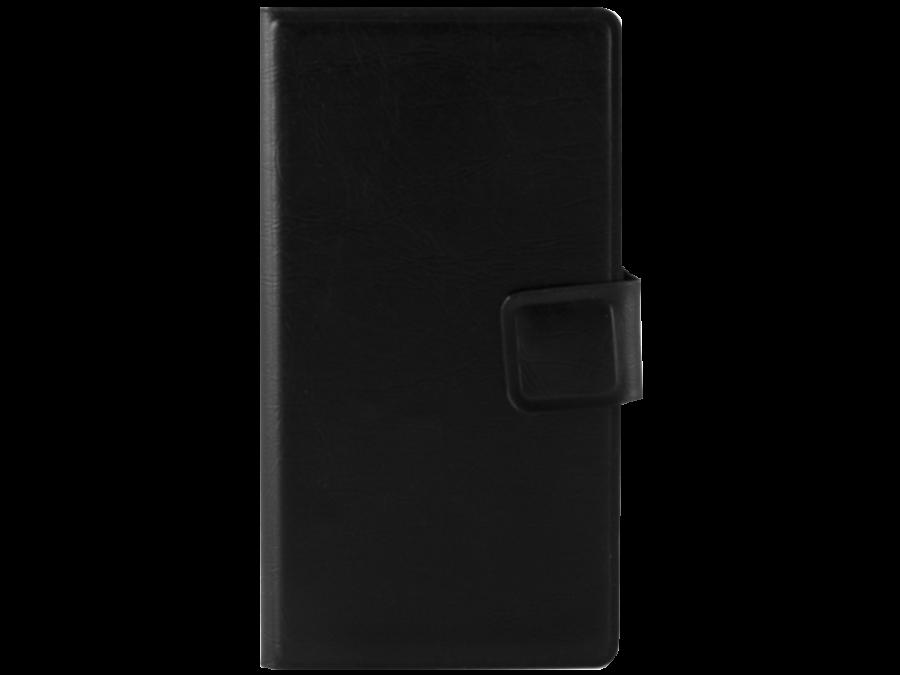 Чехол-книжка Марка для Micromax Q415  горизонтальный, полиуретан, черный