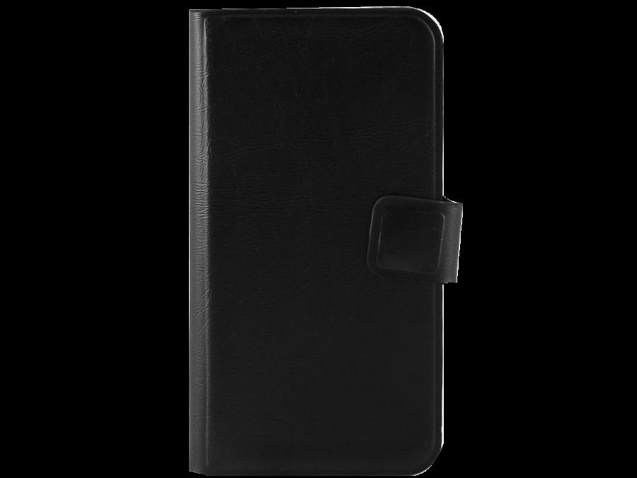 Чехол-книжка Марка для Micromax D303 горизонтальный, полиуретан, черный