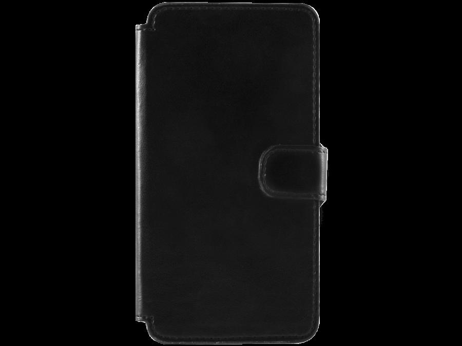 Чехол-книжка OxyFashion для Micromax Q415, кожзам, черный
