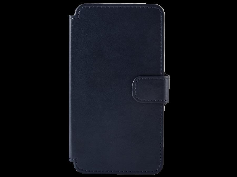 Чехол-книжка OxyFashion для Micromax Q415, кожзам, синий