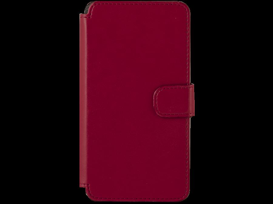 Чехол-книжка OxyFashion для Micromax Q415, кожзам, красный