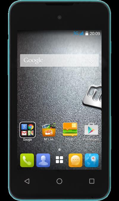 Micromax BOLT D303 Green simlockСмартфоны<br>2G, 3G, Wi-Fi; ОС Android; Камера 3.2 Mpix; Разъем для карт памяти; MP3, FM,  GPS; Время работы 360 ч. / 7.6 ч.; Вес 119 г.<br><br>Colour: Зеленый