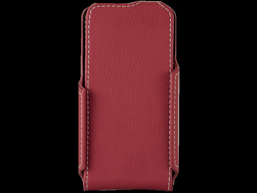 Чехол-книжка ONZOZONE для Micromax D303, кожзам, красный