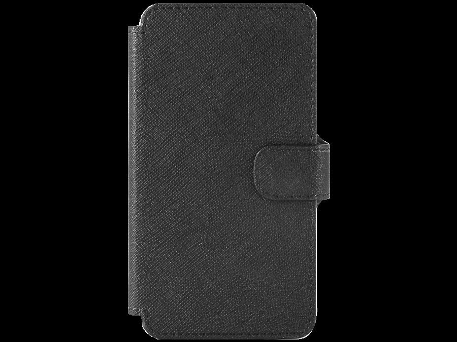Чехол-книжка OxyFashion для Micromax D303, кожзам, черный