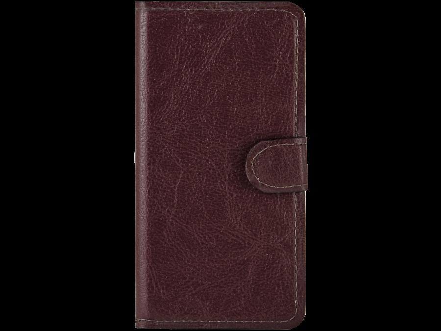 Чехол-книжка Laura Ponti для Micromax Q415, кожзам, красный
