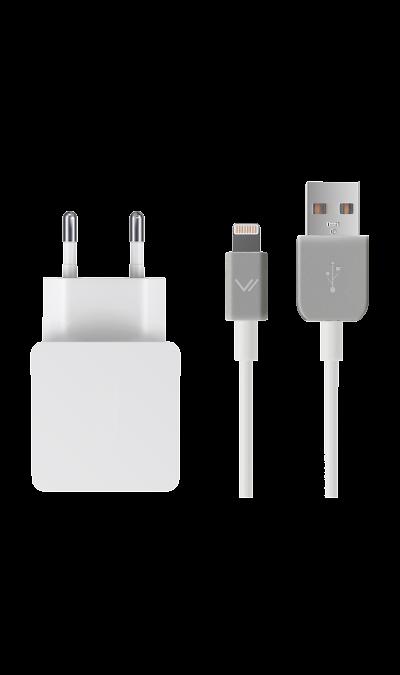 Зарядное устройство сетевое Vertex lightning 1АЗарядные устройства<br>Сетевое зарядное устройство Vertex можно использовать для зарядки аккумуляторов аппаратов компании Apple с разъемом Lightning.<br><br>Colour: Белый