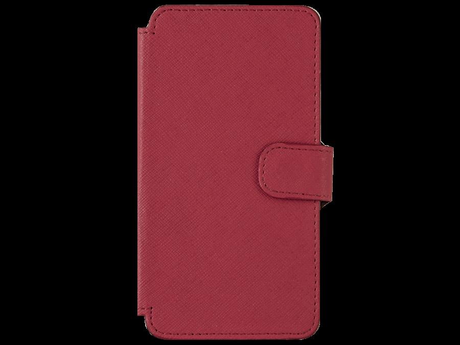 Чехол-книжка OxyFashion для Micromax D303 рубчик, кожзам, красный