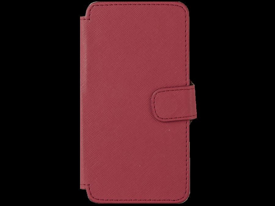 Чехол-книжка OxyFashion для ZTE Blade A5 рубчик, кожзам, красный