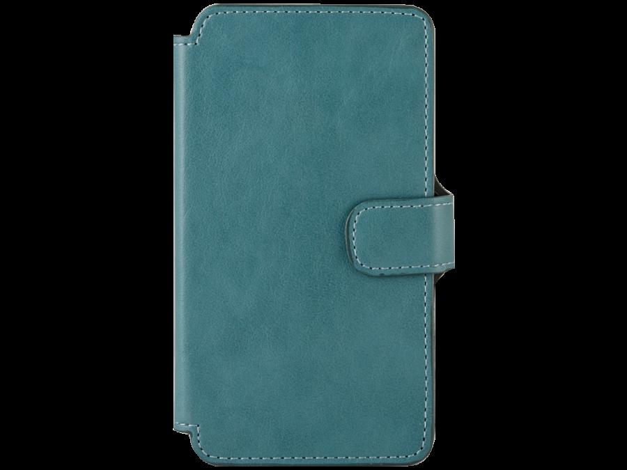 Чехол-книжка OxyFashion для Micromax D303, кожзам, зеленый