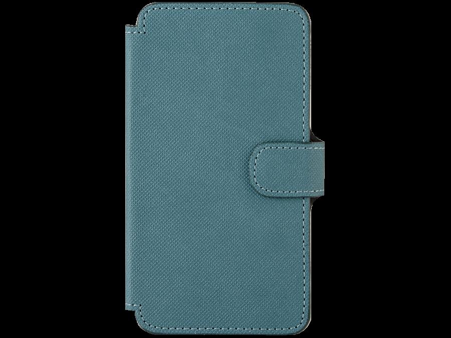 Чехол-книжка OxyFashion для Micromax D303 рубчик, кожзам, зеленый