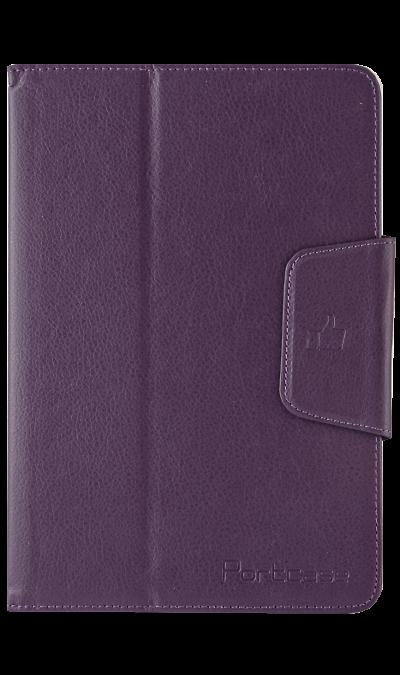 PortCase Чехол-книжка PortCase универсальный 8, кожзам / пластик, фиолетовый interstep чехол книжка vels p8m планшет 8 8 5 экокожа black