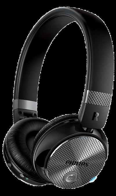 Philips SHB8850NCНаушники и гарнитуры<br>Больше звука без шумов.<br>Беспроводная передача, система шумоподавления и бескомпромиссное качество звучания. Погрузитесь в мир музыки благодаря улучшенной технологии активного шумоподавления ActiveShield. Беспроводное подключение одним касанием через NFC и удобство управления музыкой и вызовами благодаря интеллектуальным элементам управления на чашках наушников.<br><br>32-мм излучатели с неодимовыми магнитами воспроизводят четкий звук.<br>Точно настроенные 32-мм излучатели с ...<br><br>Colour: Черный