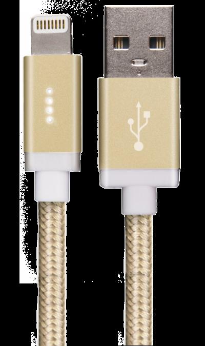 Кабель Energea Lightning AluBlaze (золотистый)Кабели и адаптеры<br>Кабель зарядки и передачи данных для мобильных устройств. Предусмотрен световой индикатор.<br><br>Colour: Золотистый