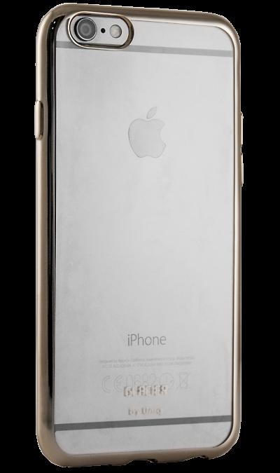 Uniq Чехол-крышка Uniq Glacier Glitz для Apple iPhone 6 Plus, силикон, золотистый чехол накладка interstep is frame для apple iphone 6 6s прозрачный с прокрашенным бампером золотого цвета