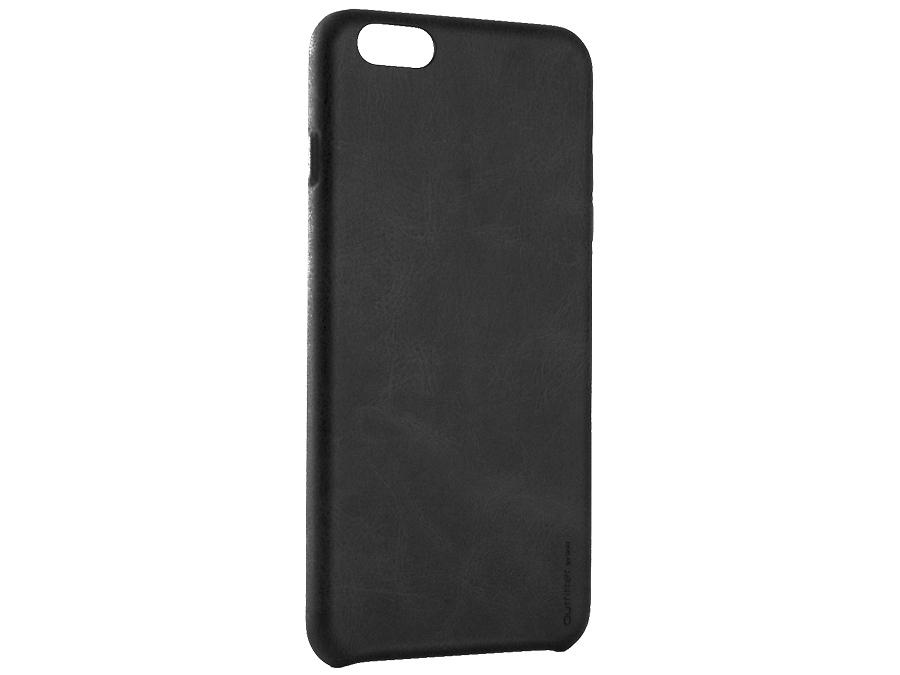 Чехол-крышка Uniq Outfitter для iPhone 6, кожзам, черный