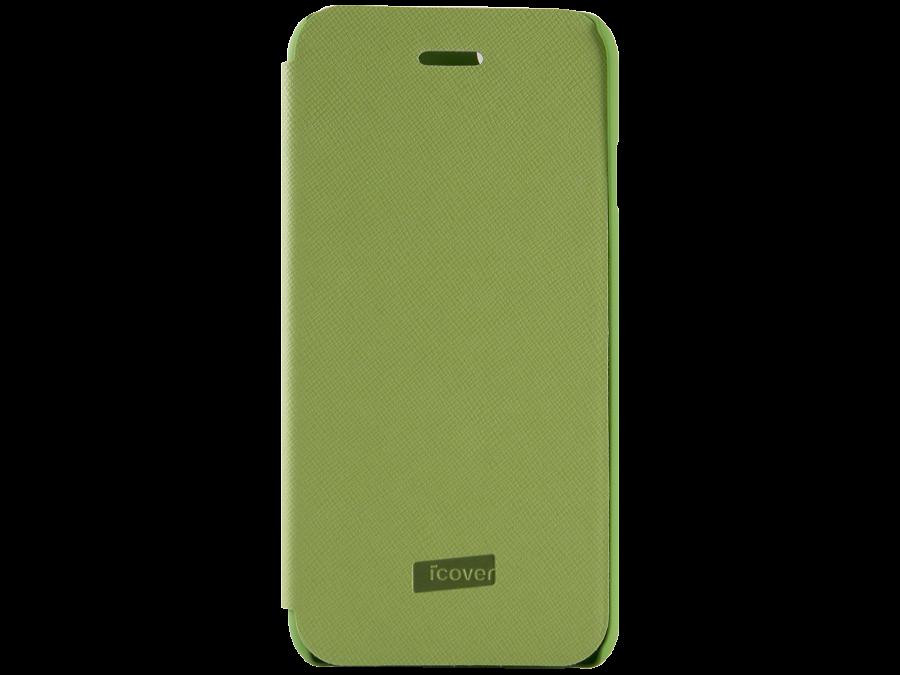 Чехол-книжка iCover Carbio для Apple iPhone 6, кожзам / пластик, зеленый