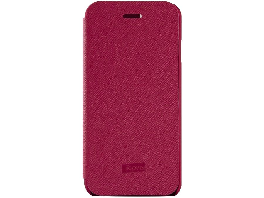 Чехол-книжка iCover Carbio для iPhone 6, кожзам / пластик, красный