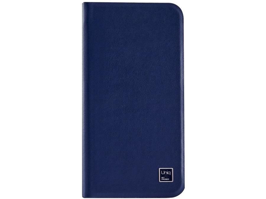 Чехол-книжка Uniq Wallet Folio для Apple iPhone 6, кожа / пластик, синий