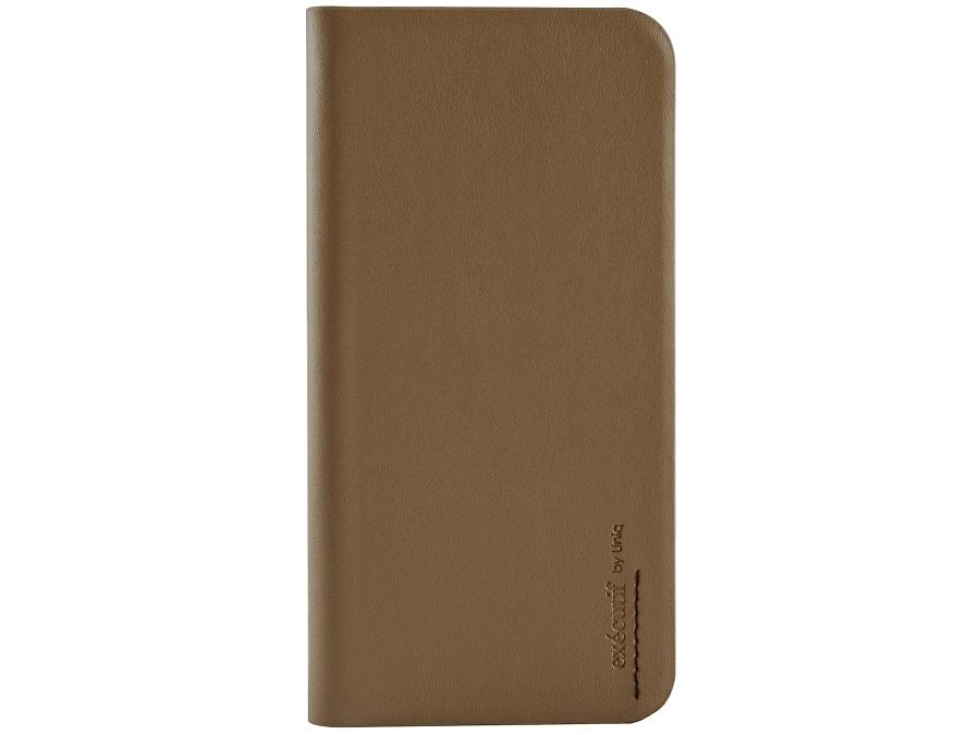 Чехол-книжка Uniq Wallet Folio для Apple iPhone 6, кожа / пластик, коричневый