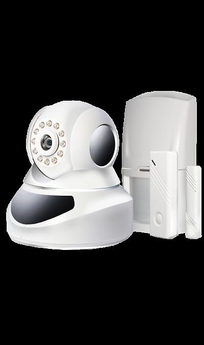 Система видеонаблюдения Ginzzu HS-K07WФото и видео<br>Охранная система для дома, квартиры, офиса.<br><br>Функции:<br><br>Самостоятельная установка и настройка;<br>Подключение через LAN или WiFi;<br>Оповещение о тревоге на мобильное устройство;<br>Поддержка до 64 беспроводных датчиков;<br>Индивидуальная настройка каждой зоны;<br>Управление через интернет и мобильные приложения для Android и iOS.<br><br><br><br>Характеристики:<br><br><br>Кол-во подключаемых ПДУ- 8;<br>Индикаторы- 4;<br>Беспроводное подключение ...<br><br>Colour: Белый