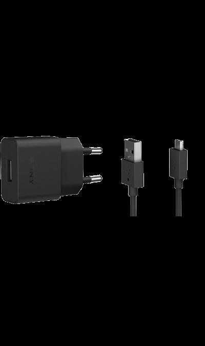 Зарядное устройство сетевое Sony UCH20 1,5A (microUSB)Зарядные устройства<br>Оригинальное cетевое зарядное устройство Sony можно использовать для зарядки аккумуляторов аппаратов с разъемом microUSB.<br><br>Colour: Черный