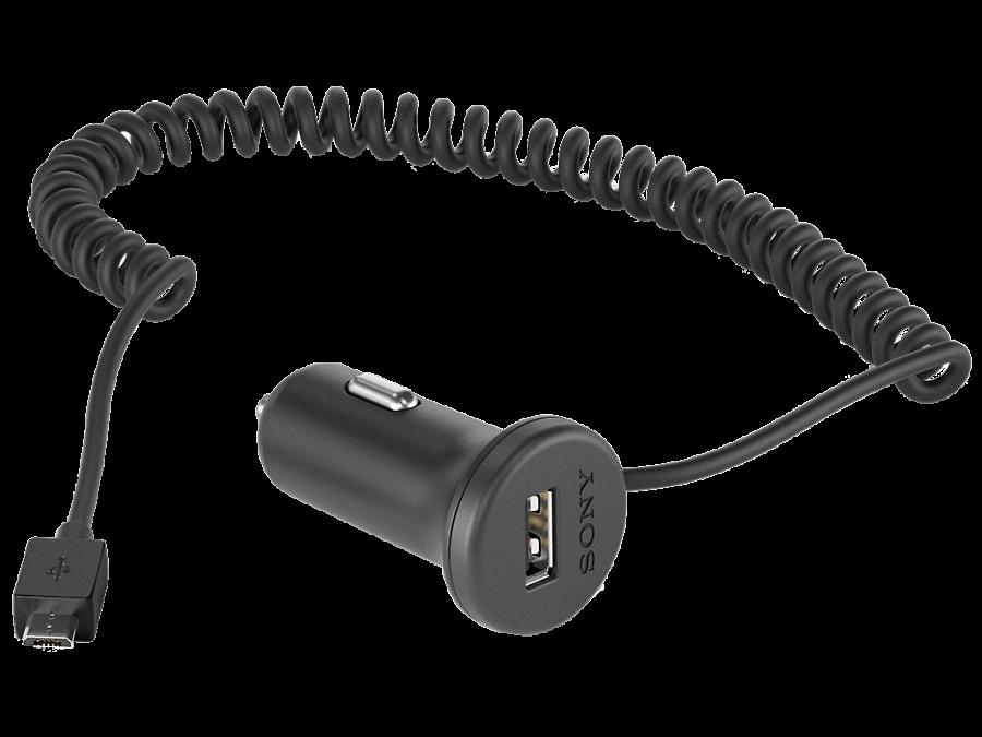 Зарядное устройство автомобильное Sony AN420 (microUSB)