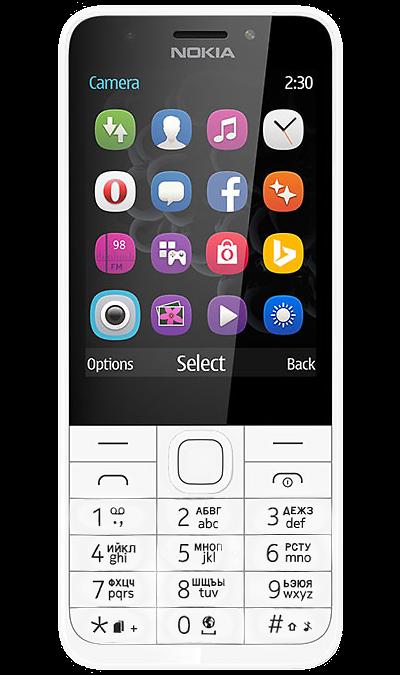 Nokia 230 Dual SimТелефоны<br>2G; Дисплей 262,1 тыс цв. 2.8; Камера 2 Mpix; Разъем для карт памяти; MP3, FM; Время работы 648 ч. / 23.0 ч.; Вес 91 г.<br><br>Colour: Белый