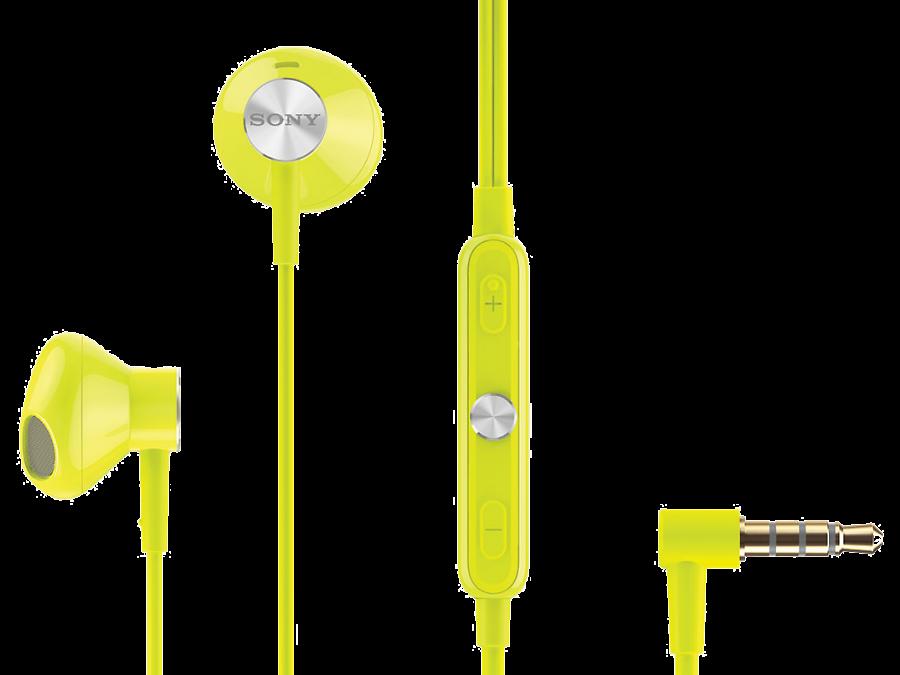Проводная гарнитура Sony STH30, стерео (лайм)
