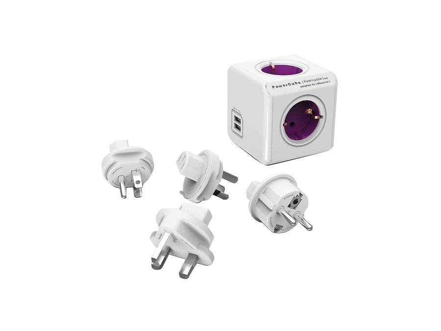 Зарядное устройство сетевое Allocacoc PowerCube 1800/DERW4P (фиолетовый)