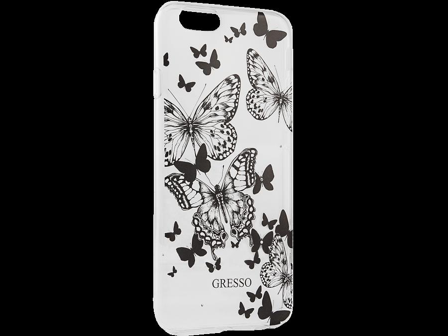 Чехол-крышка Gresso Бабочки для Apple iPhone 6/6S, пластик, прозрачный