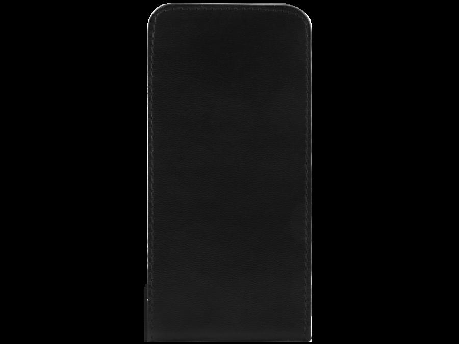 Чехол-книжка OxyFashion вертикальный для Apple iPhone 5, кожзам, черный (на присоске)