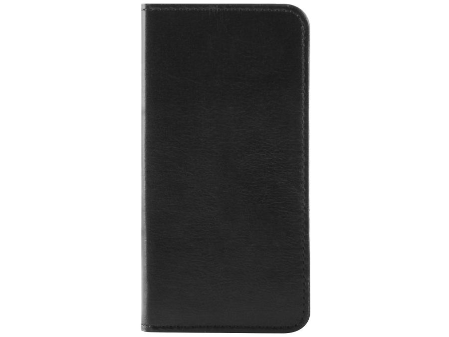Чехол-книжка OxyFashion горизонтальный для Apple iPhone 5, кожа, черный (с отделением для кредиток)