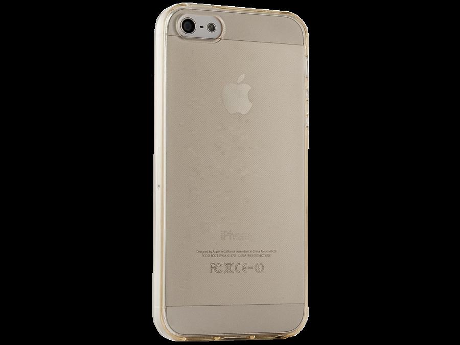 Чехол-крышка Gresso для Apple iPhone 5/5S, силикон, Золотистый
