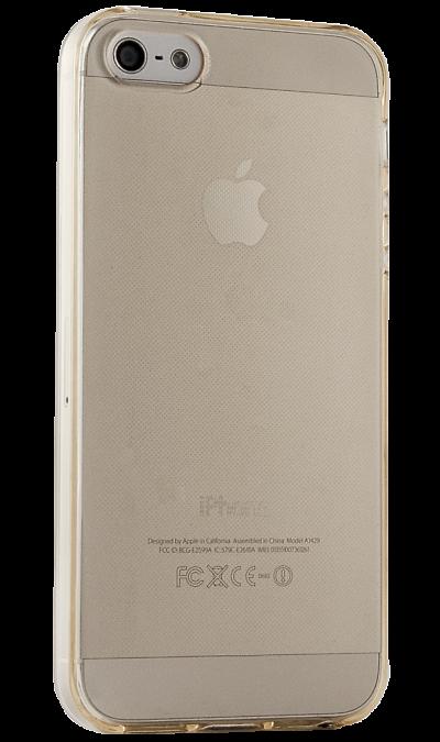 где купить Gresso Чехол-крышка Gresso для Apple iPhone 5/5S, силикон, Золотистый по лучшей цене