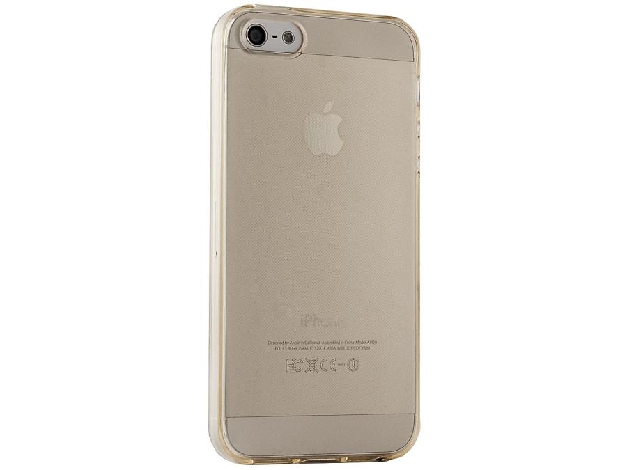 Чехол-крышка Gresso для iPhone 5/5S, силикон, Золотистый