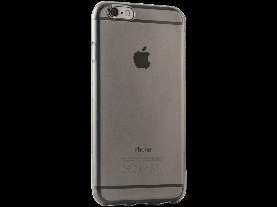 Чехол-крышка Gresso для Apple iPhone 6/6S, силикон, черный (прозрачный)