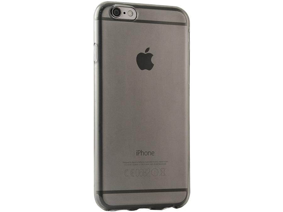 Чехол-крышка Gresso для iPhone 6/6S, силикон, черный (прозрачный)